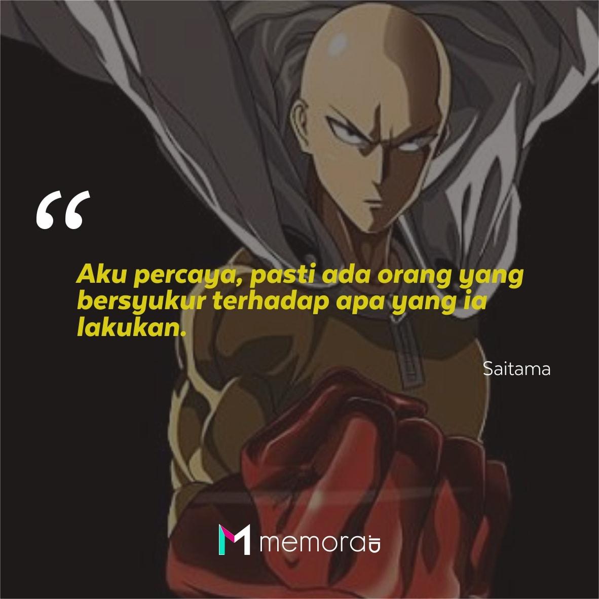 25 Kata Kata Mutiara Saitama One Punch Man Penuh Arti Memorable With Us