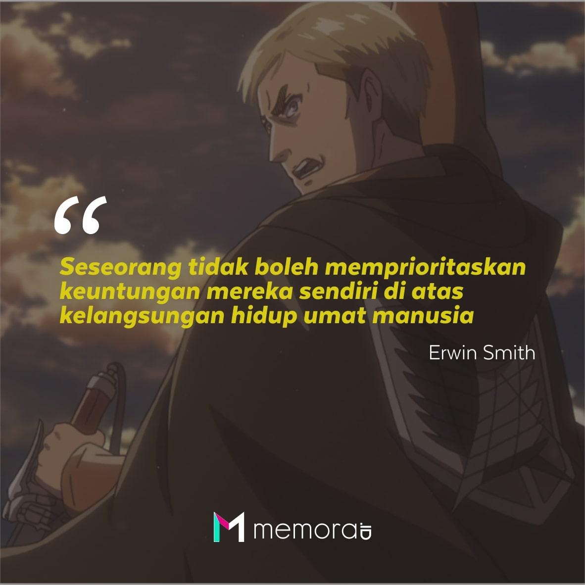 Kata-Kata Mutiara Erwin Smith