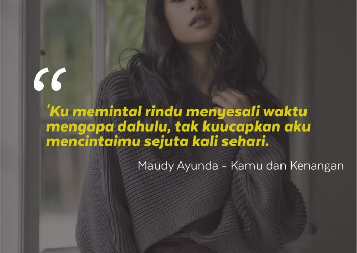 Kata-kata Mutiara Maudy Ayunda