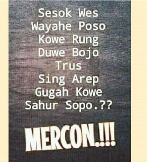 Meme Jomblo saat Sahur Puasa Ramadhan