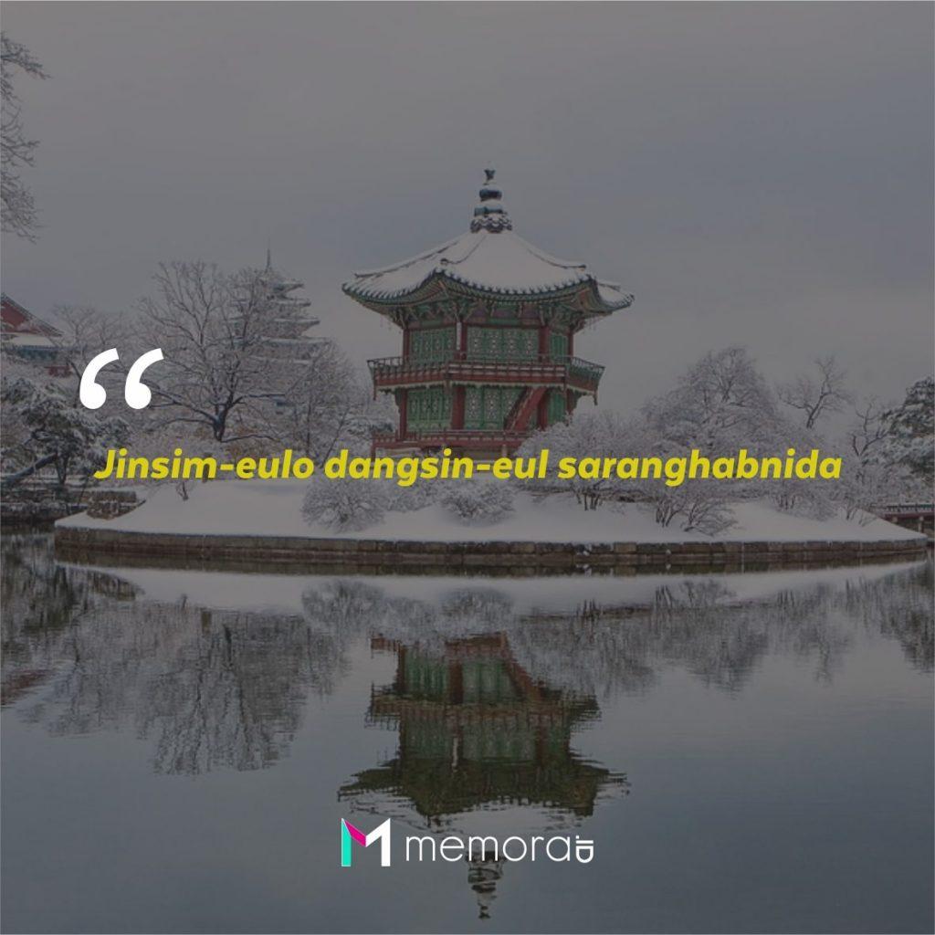 Kata-kata Cinta Romantis Bahasa Korea