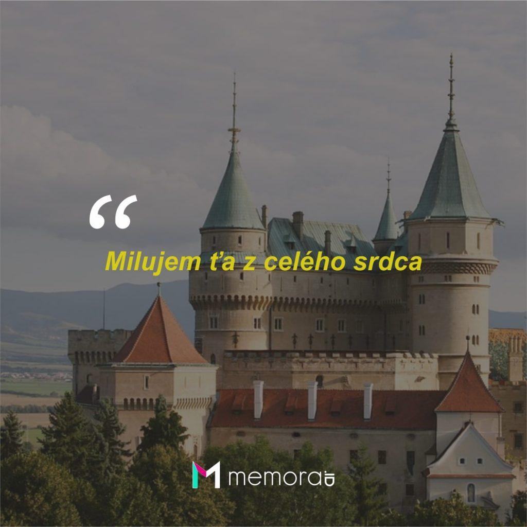 Kata-kata Cinta Romantis Bahasa Slovakia