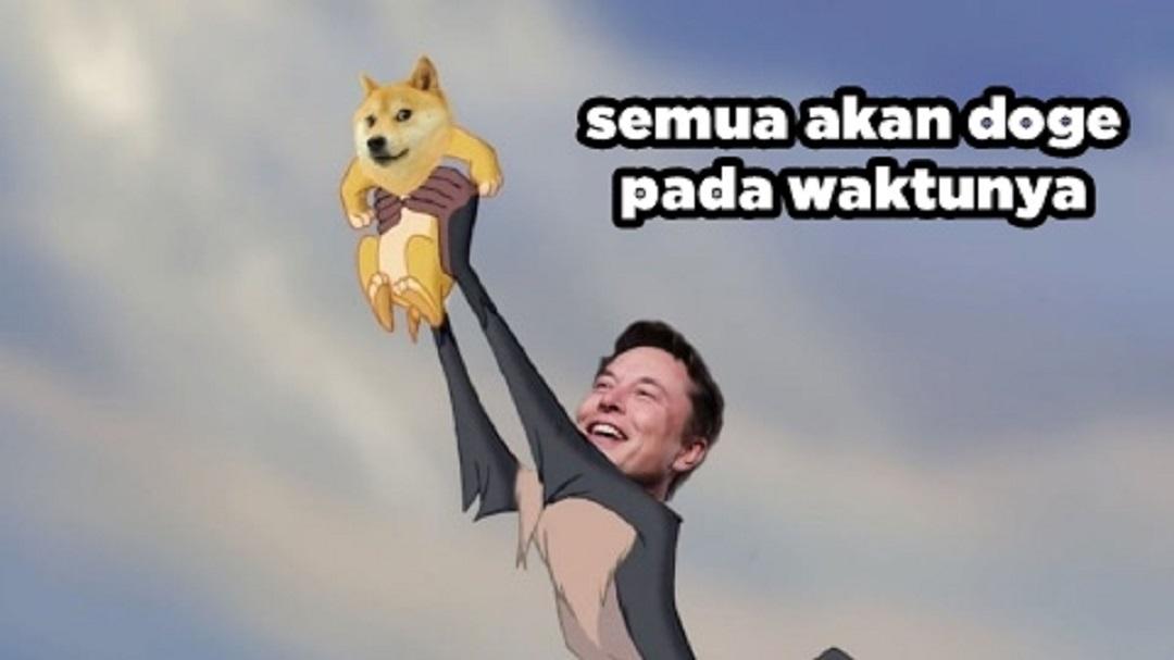 Meme Crypto tentang Bitcoin dan Doge
