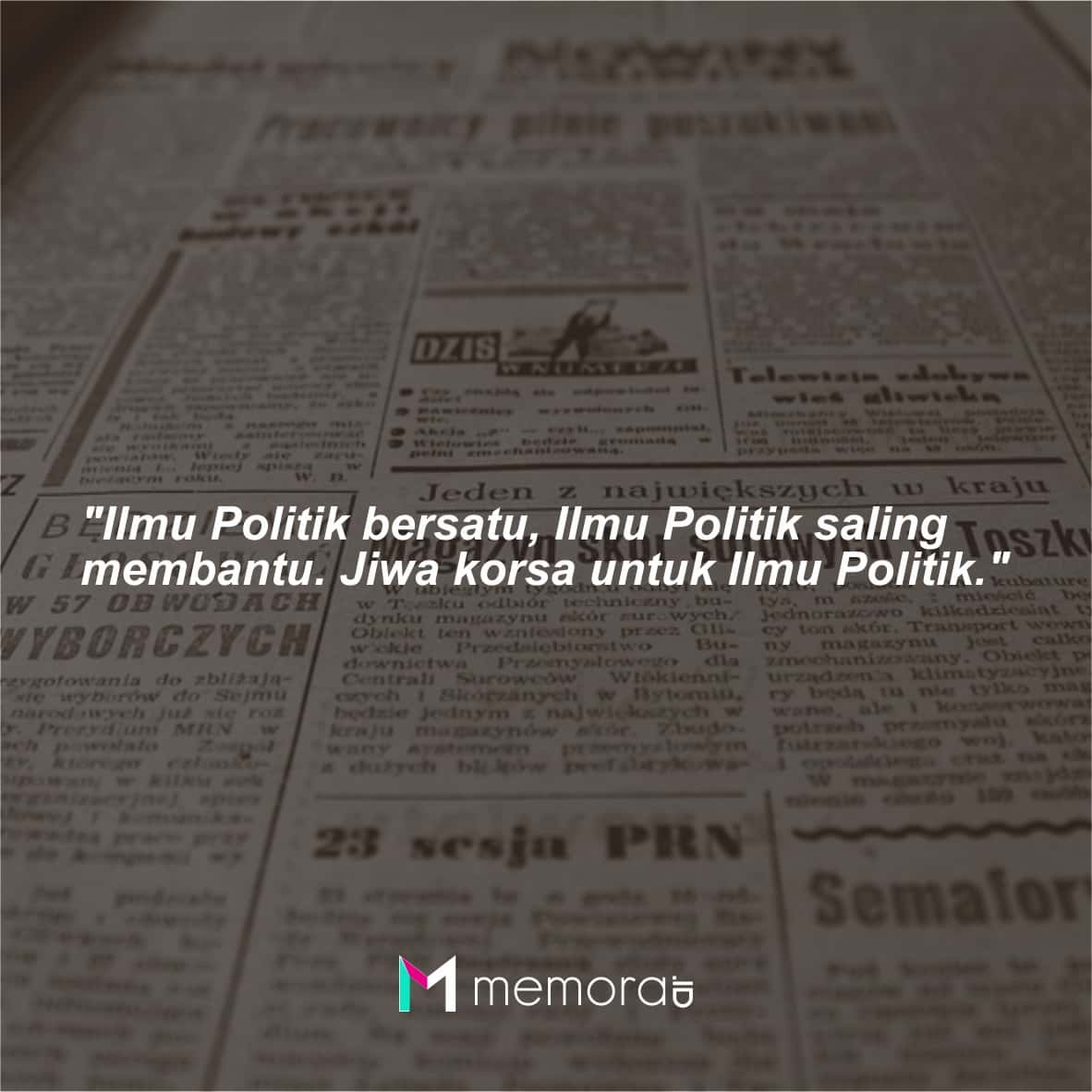 Kata-kata Mutiara Jurusan Ilmu Politik